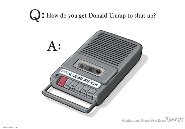 Cartoonist Clay Bennett  Clay Bennett's Editorial Cartoons 2018-09-10 Robert Mueller