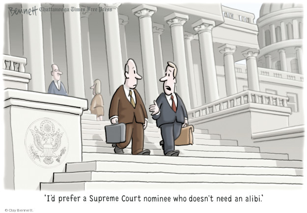 Cartoonist Clay Bennett  Clay Bennett's Editorial Cartoons 2018-09-25 accusation