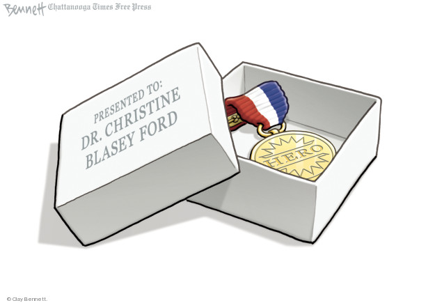 Cartoonist Clay Bennett  Clay Bennett's Editorial Cartoons 2018-09-28 accusation