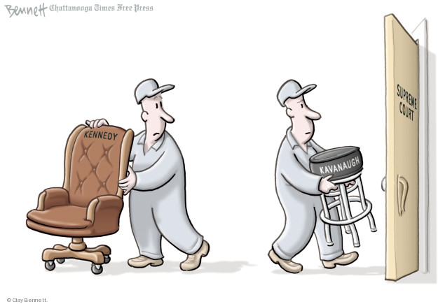 Cartoonist Clay Bennett  Clay Bennett's Editorial Cartoons 2018-10-03 accusation