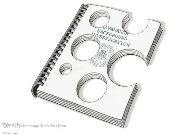 Cartoonist Clay Bennett  Clay Bennett's Editorial Cartoons 2018-10-05 accusation