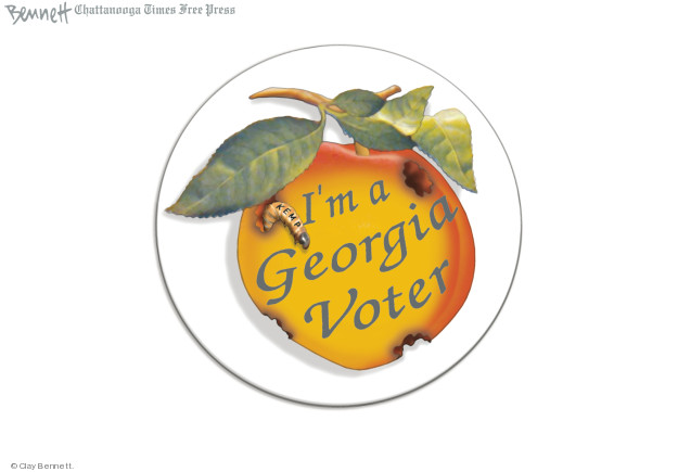 Cartoonist Clay Bennett  Clay Bennett's Editorial Cartoons 2018-10-12 vote
