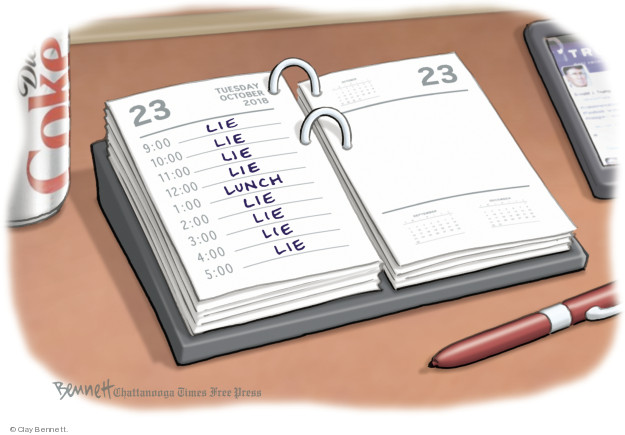 Clay Bennett  Clay Bennett's Editorial Cartoons 2018-10-23 diet