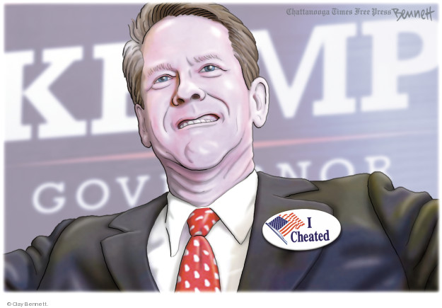 Cartoonist Clay Bennett  Clay Bennett's Editorial Cartoons 2018-10-28 state politician