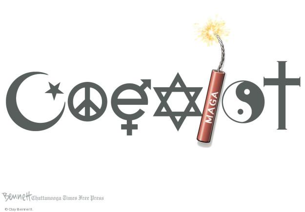 Cartoonist Clay Bennett  Clay Bennett's Editorial Cartoons 2018-10-30 violence