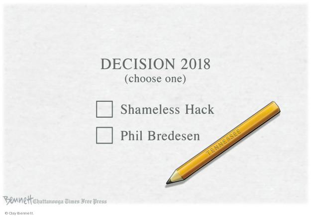 Cartoonist Clay Bennett  Clay Bennett's Editorial Cartoons 2018-11-02 state politician