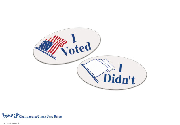 Cartoonist Clay Bennett  Clay Bennett's Editorial Cartoons 2018-11-06 vote