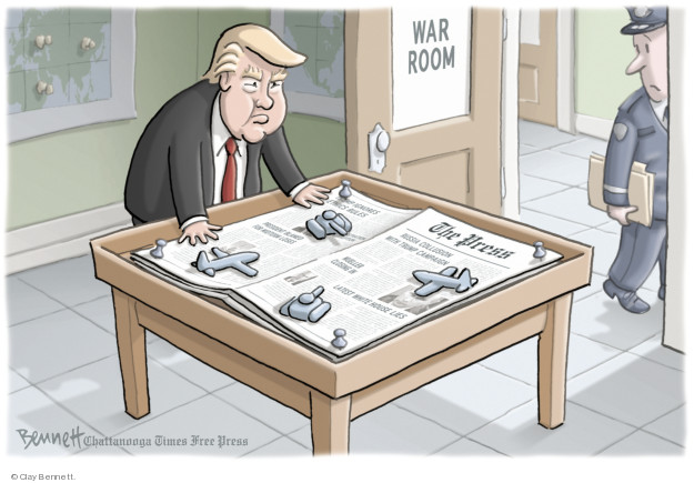War room. The Press. Trump ignores ethics rules. President blamed for midterm losses. Russia collusion with Trump campaign. Mueller closing in. Latest White House lies.