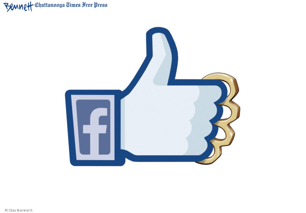 Clay Bennett  Clay Bennett's Editorial Cartoons 2018-11-19 social media politics