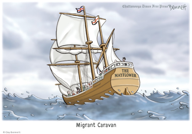 Clay Bennett  Clay Bennett's Editorial Cartoons 2018-11-20 immigration