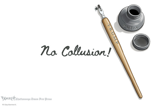 Cartoonist Clay Bennett  Clay Bennett's Editorial Cartoons 2018-12-03 Robert Mueller