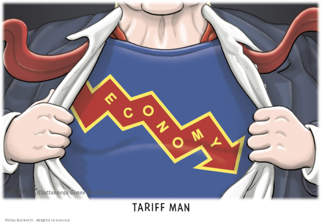 Cartoonist Clay Bennett  Clay Bennett's Editorial Cartoons 2018-12-11 economic policy