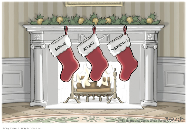 Cartoonist Clay Bennett  Clay Bennett's Editorial Cartoons 2018-12-12 Robert Mueller