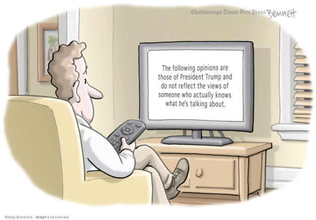 Cartoonist Clay Bennett  Clay Bennett's Editorial Cartoons 2019-01-09 opinion