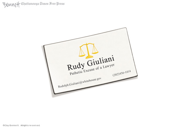 Rudy Giuliani. Pathetic Excuse of a Lawyer. RudolphGiuliani@whitehouse.gov. (202)456-1414.