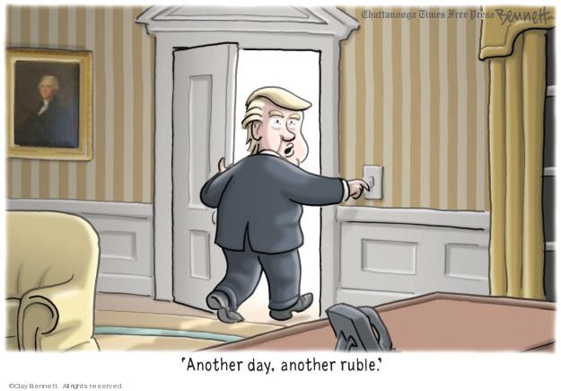 Cartoonist Clay Bennett  Clay Bennett's Editorial Cartoons 2019-01-23 Russia Investigation