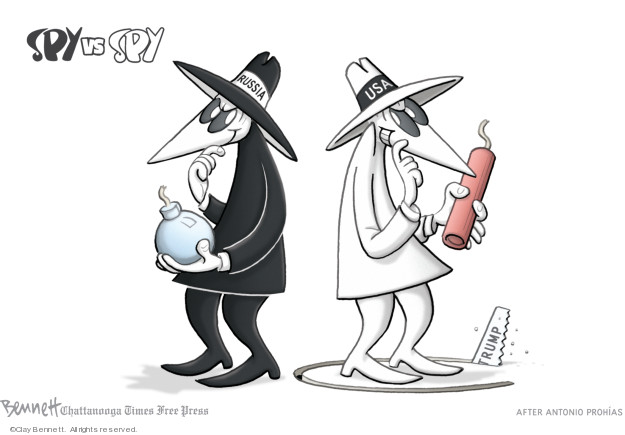 Cartoonist Clay Bennett  Clay Bennett's Editorial Cartoons 2019-02-01 intelligence