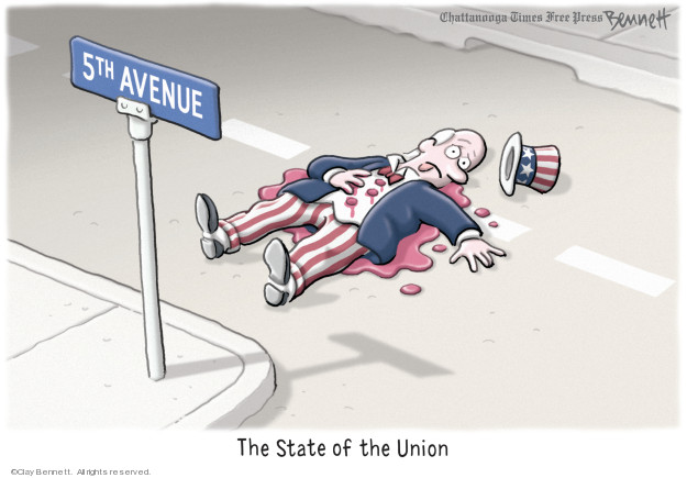 Cartoonist Clay Bennett  Clay Bennett's Editorial Cartoons 2019-02-06 state politician