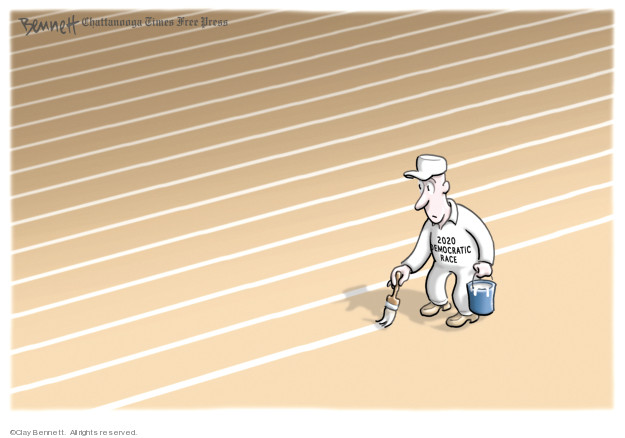 Cartoonist Clay Bennett  Clay Bennett's Editorial Cartoons 2019-02-10 office