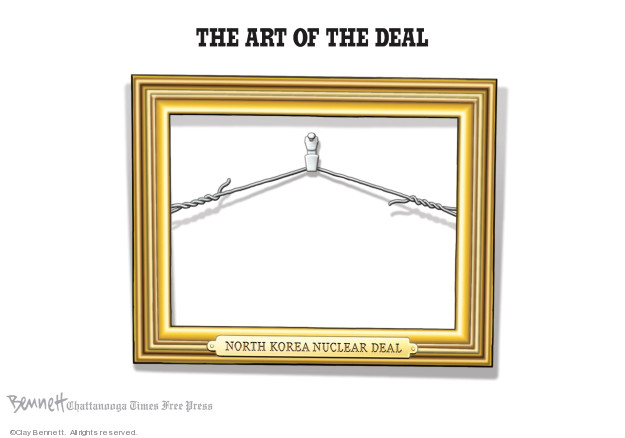 Cartoonist Clay Bennett  Clay Bennett's Editorial Cartoons 2019-02-27 weapon