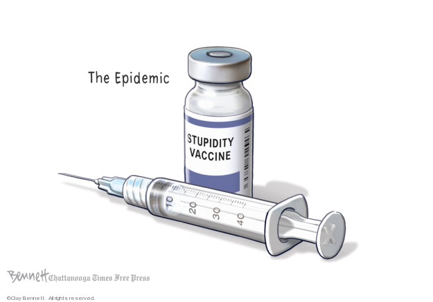 Cartoonist Clay Bennett  Clay Bennett's Editorial Cartoons 2019-03-06 vaccine