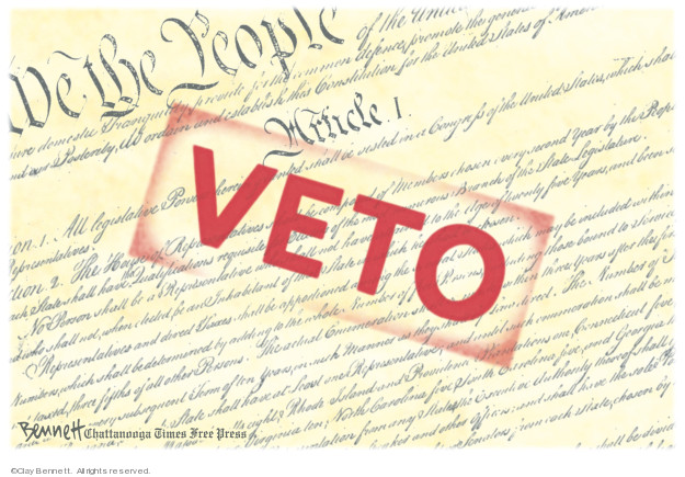 Cartoonist Clay Bennett  Clay Bennett's Editorial Cartoons 2019-03-16 Constitution