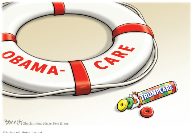Clay Bennett  Clay Bennett's Editorial Cartoons 2019-03-31 Trumpcare