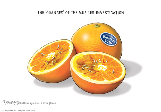 The oranges of the Mueller investigation. Presidential election 2016.