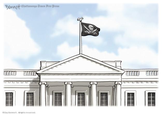 Cartoonist Clay Bennett  Clay Bennett's Editorial Cartoons 2019-04-10 flag