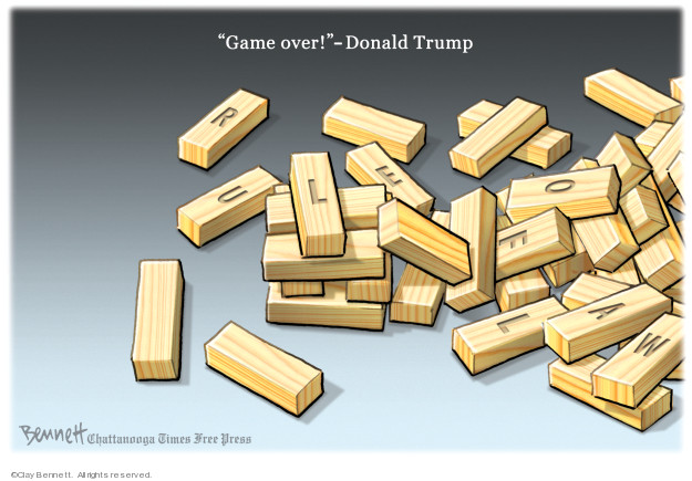 Clay Bennett  Clay Bennett's Editorial Cartoons 2019-04-20 rule of law