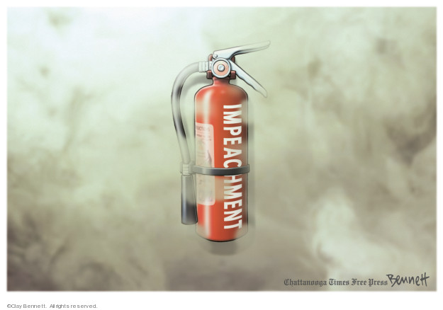 Cartoonist Clay Bennett  Clay Bennett's Editorial Cartoons 2019-04-28 congressional investigation