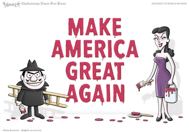 Clay Bennett  Clay Bennett's Editorial Cartoons 2019-04-30 2016 Election Russian Interference