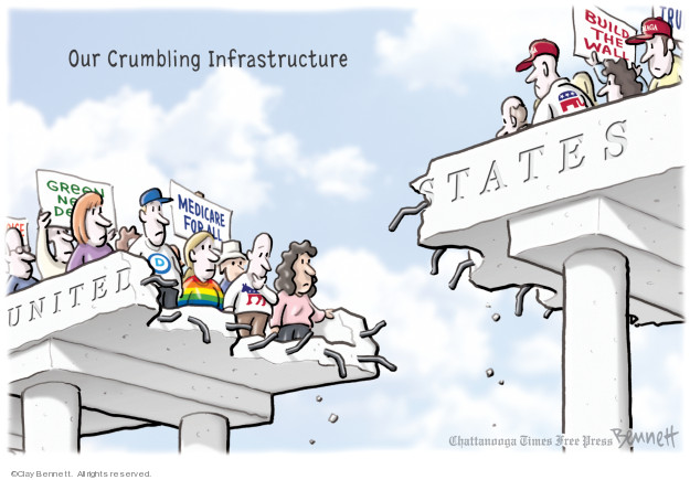 Clay Bennett  Clay Bennett's Editorial Cartoons 2019-05-01 infrastructure