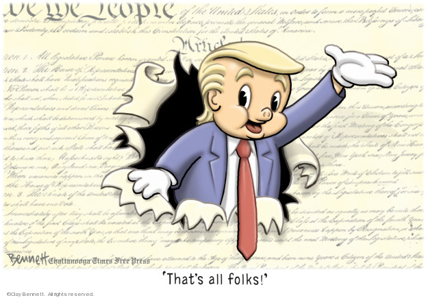 Clay Bennett  Clay Bennett's Editorial Cartoons 2019-05-06 Donald