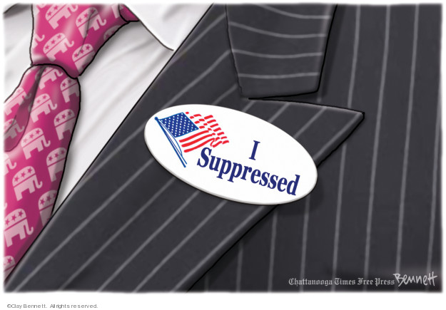 Cartoonist Clay Bennett  Clay Bennett's Editorial Cartoons 2019-05-07 vote