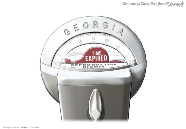 Georgia. Six week limit. 0 14 21 28 35 42. Time expired. Reproductive rights.
