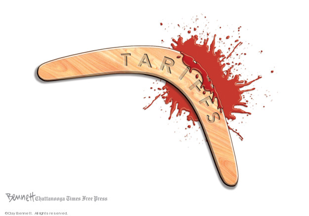 Clay Bennett  Clay Bennett's Editorial Cartoons 2019-05-15 economy