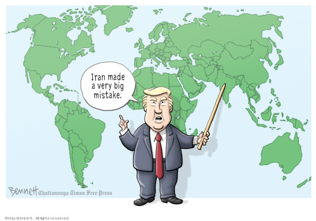 Cartoonist Clay Bennett  Clay Bennett's Editorial Cartoons 2019-06-21 Iran