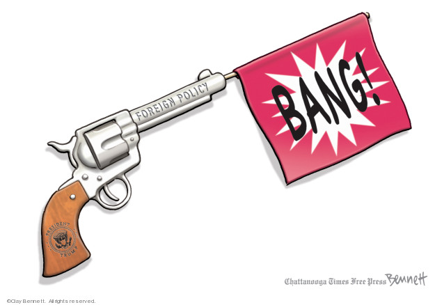 Cartoonist Clay Bennett  Clay Bennett's Editorial Cartoons 2019-06-22 attack