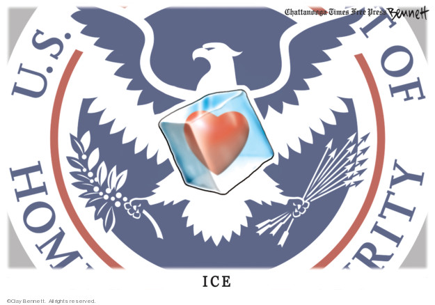 Cartoonist Clay Bennett  Clay Bennett's Editorial Cartoons 2019-06-25 separation