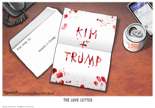 Cartoonist Clay Bennett  Clay Bennett's Editorial Cartoons 2019-07-07 weapon