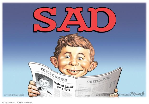 Clay Bennett  Clay Bennett's Editorial Cartoons 2019-07-08 1950s
