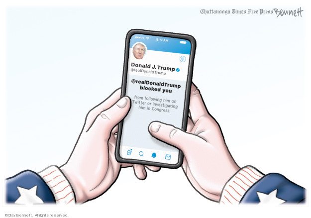 Clay Bennett  Clay Bennett's Editorial Cartoons 2019-07-10 social media politics