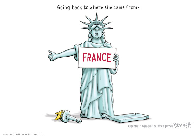 Going back to where she came from - France.