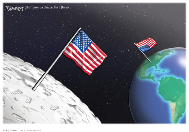 Cartoonist Clay Bennett  Clay Bennett's Editorial Cartoons 2019-07-18 American