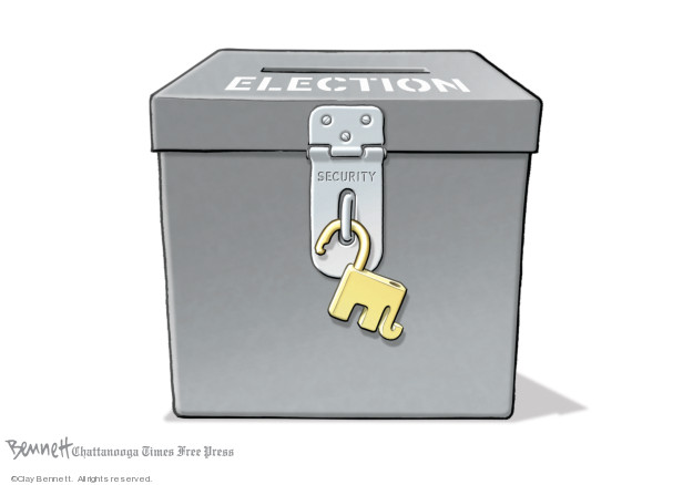 Clay Bennett  Clay Bennett's Editorial Cartoons 2019-07-26 security
