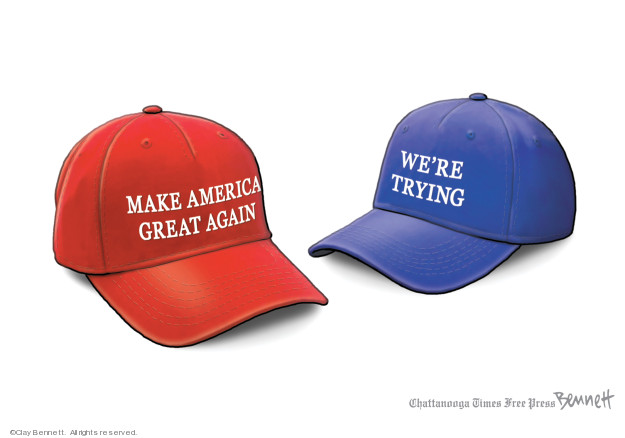 Cartoonist Clay Bennett  Clay Bennett's Editorial Cartoons 2019-07-27 republican politician