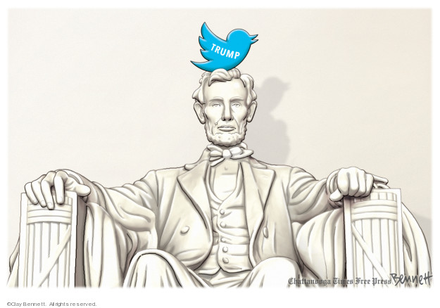 Clay Bennett  Clay Bennett's Editorial Cartoons 2019-08-04 social media politics