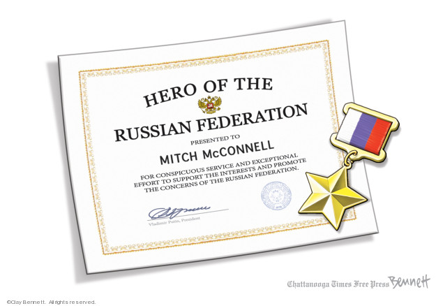 Cartoonist Clay Bennett  Clay Bennett's Editorial Cartoons 2019-08-02 attack