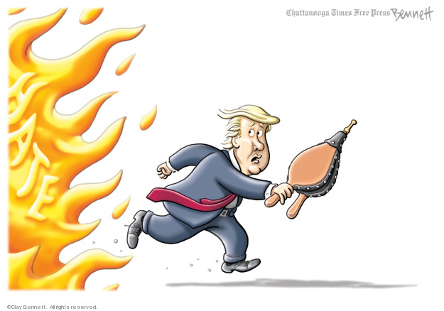 Cartoonist Clay Bennett  Clay Bennett's Editorial Cartoons 2019-08-06 attack